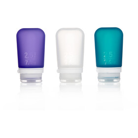 humangear GoToob - 74 ml pack de 3 violet/turquoise